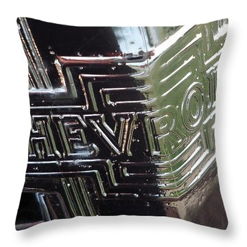 1938 Chevrolet Sedan Emblem Throw Pillow