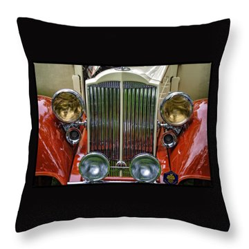Throw Pillow featuring the photograph 1928 Classic Packard 443 Roadster by Thom Zehrfeld