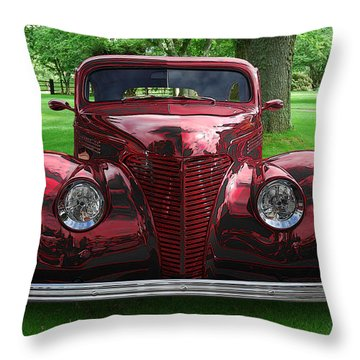 1938 Ford Coupe Throw Pillow