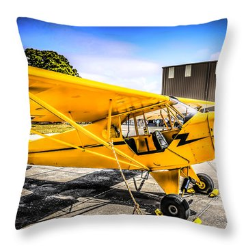 1938 Piper Cub Throw Pillow by Chris Smith