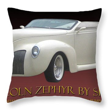 1939 Lincoln Zephyr Poster Throw Pillow by Jack Pumphrey