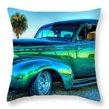 1940 Chevy Sedan Throw Pillow by Brian Wright