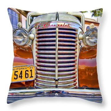 Throw Pillow featuring the photograph 1940 Chevy Sedan by Jason Abando