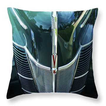 Throw Pillow featuring the photograph 1940 Ford Classic Deluxe Two Door Sedan V-8 by Jerry Cowart