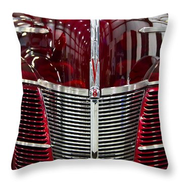 1940 Ford V8 Grill  Throw Pillow by Eti Reid