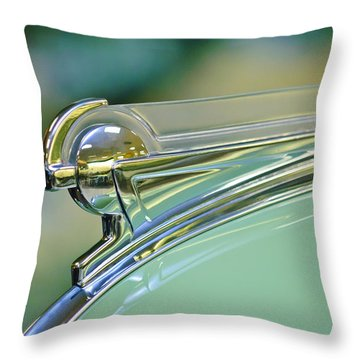 1940 Oldsmobile Hood Ornament Throw Pillow by Jill Reger