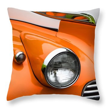 1940 Orange And White Chevrolet Sedan Square Throw Pillow
