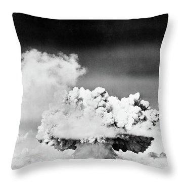 1940s 1950s Atomic Bomb Explosion Throw Pillow
