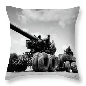 1940s Army Track Laying Vehicle Throw Pillow