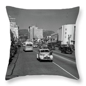 1940s Street Scene View Down Vine Throw Pillow