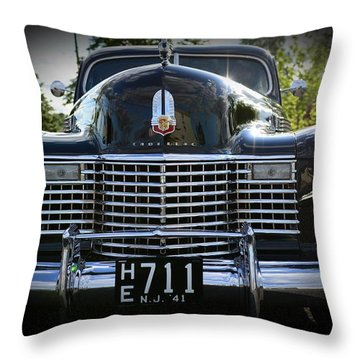 1941 Cadillac Front End Throw Pillow by Paul Ward