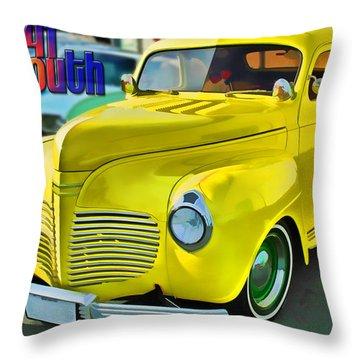 1941 Plymouth Throw Pillow