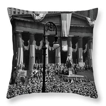 1942 Wwii War Bond Rally Federal Throw Pillow