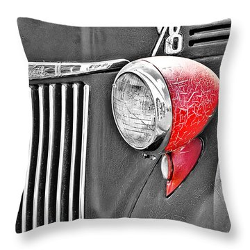 1944 Ford Pickup - Headlight - Sc Throw Pillow by Mary Carol Story