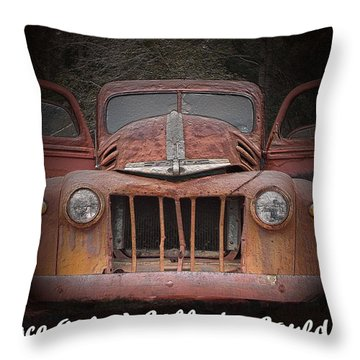 1945 Ford Throw Pillow