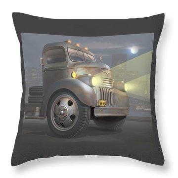 1946 Chevy Coe Throw Pillow by Stuart Swartz
