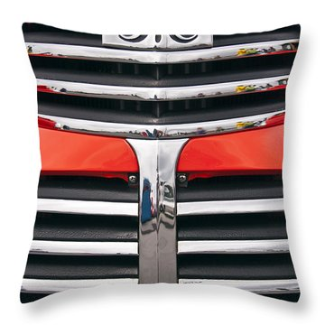 1946 Gmc Truck Grill Throw Pillow
