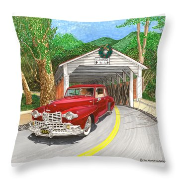 1946 Lincoln Continental Throw Pillow by Jack Pumphrey