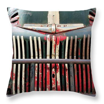 1946 Vintage Ford Truck Throw Pillow by Fiona Kennard