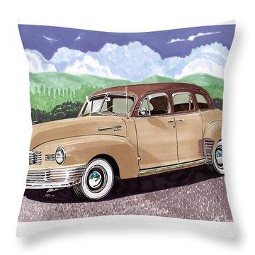1947 Nash Statesman Throw Pillow by Jack Pumphrey
