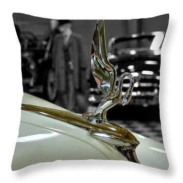 1947 Packard Hood Ornimate Throw Pillow