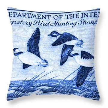 1948 American Bird Hunting Stamp Throw Pillow