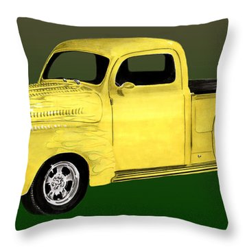 1948 Custom Ford Pick Up Throw Pillow by Jack Pumphrey