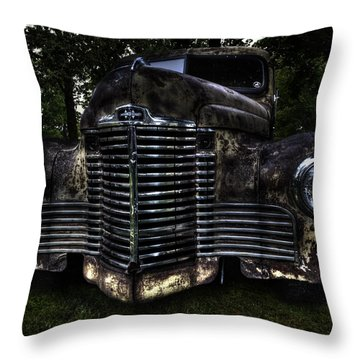1948 International Truck Throw Pillow by Thomas Young
