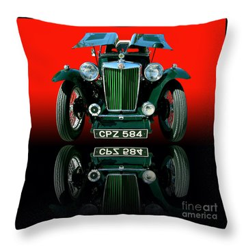 1948 Mg Tc Roadster Throw Pillow by Jim Carrell
