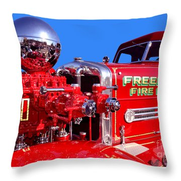 1949 Ahrens Fox Piston Pumper Fire Truck Throw Pillow