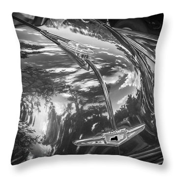 1949 Chevrolet Sedan Bw Throw Pillow