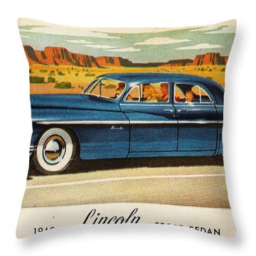 1949 Lincoln Sport Sedan Throw Pillow