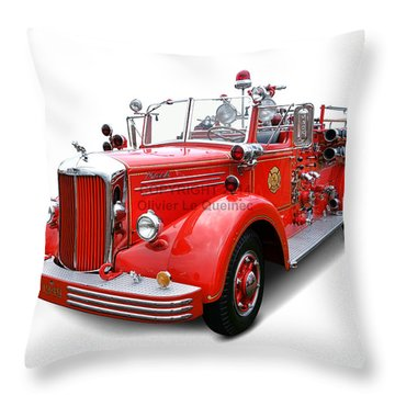 1949 Mack Fire Truck Throw Pillow
