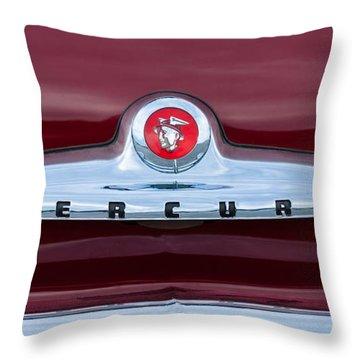 1949 Mercury Coupe Emblem Throw Pillow
