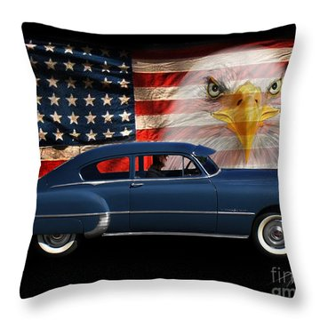 Throw Pillow featuring the photograph 1949 Pontiac Tribute Roger by Peter Piatt