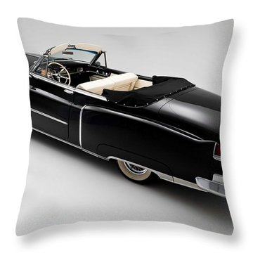 Throw Pillow featuring the photograph 1950 Black Cadillac Convertible by Gianfranco Weiss