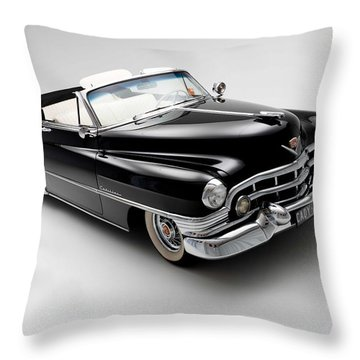 Throw Pillow featuring the photograph 1950 Cadillac Convertible by Gianfranco Weiss