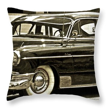 1950 Chevrolet Throw Pillow by Gwyn Newcombe