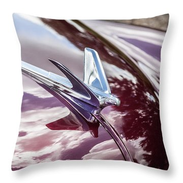 1950 Chevrolet Hood Ornament Throw Pillow