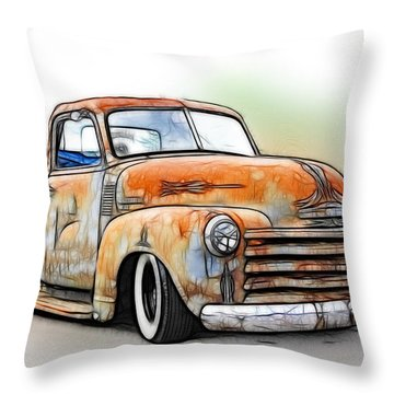 1950 Chevy Truck Throw Pillow