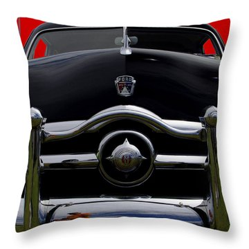 1950 Ford Automobile Throw Pillow by James C Thomas
