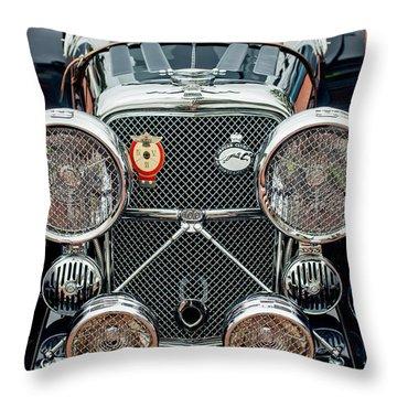 1950 Jaguar Xk120 Roadster Grille Throw Pillow by Jill Reger