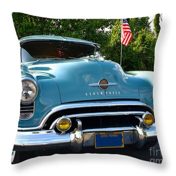 1950 Oldsmobile Throw Pillow