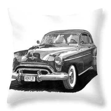 1950 Oldsmobile Rocket 88 Throw Pillow