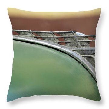 1950 Plymouth Hood Ornament - Image Art By Jo Ann Tomaselli Throw Pillow