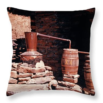 1950s Apparatus For Distilling Alcohol Throw Pillow