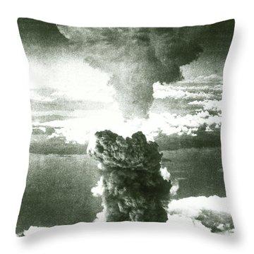 1950s Atomic Bomb Explosion Mushroom Throw Pillow