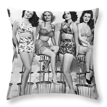 1950s Bathing Suits Throw Pillow