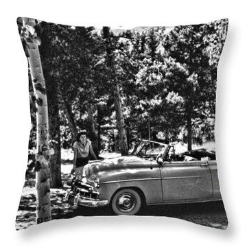 1950's Cadillac Throw Pillow