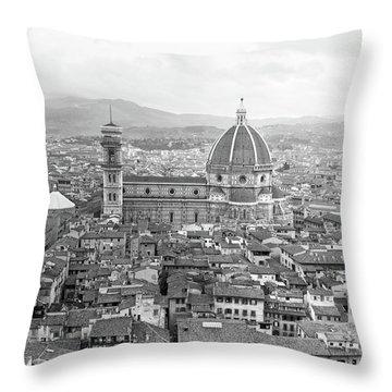 1950s Cathedral Santa Maria Del Fiore Throw Pillow